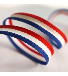 Ruban tricolore bleu blanc rouge - 50m