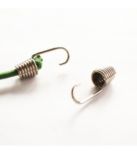 Crochet métal nickelé - 100 pc